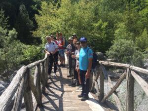 Καλοφτιαγμένα, όμορφα ξύλινα γεφύρια πλαισιώνουν το ποτάμι
